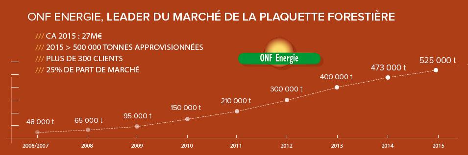 Résultats ONF Energie - Plaquettes forestières