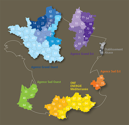 Carte d'implantation ONFE