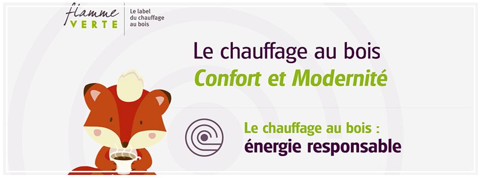 """Flamme Verte : """"Le chauffage au bois - Confort et Modernité"""""""