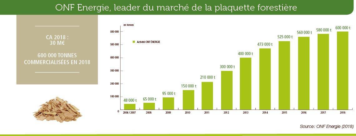 ONF Energie, leader du marché de la plaquette forestière