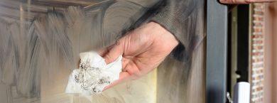 Nettoyage vitre poêle à bois - ONFEB