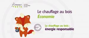 """Flamme Verte : """"Le chauffage au bois – Économique"""""""